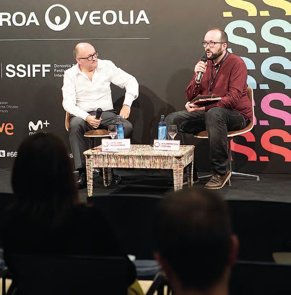 Rebordinos con  Alejandro Díaz  Castaño, director del Festival  Internacional de Cine de Gijón. ULISES PROUST