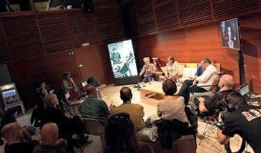 Quim Casas, Ana Cristina Iriarte y Marek Losey en la presentación del libro.